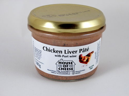 Chicken Liver Pate with Port Wine in a jar