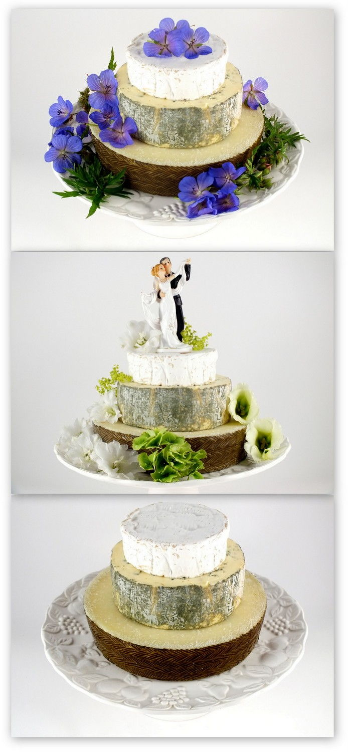 Cheese Wedding Cake or Tower to feed 25 (Cake L)