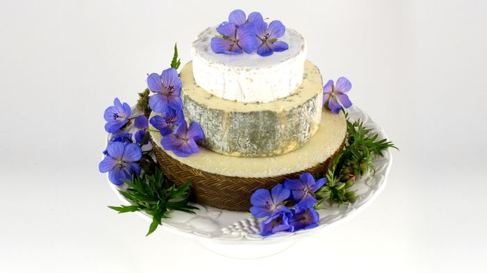 Cheese Wedding Cakes made with whole cheeses ...